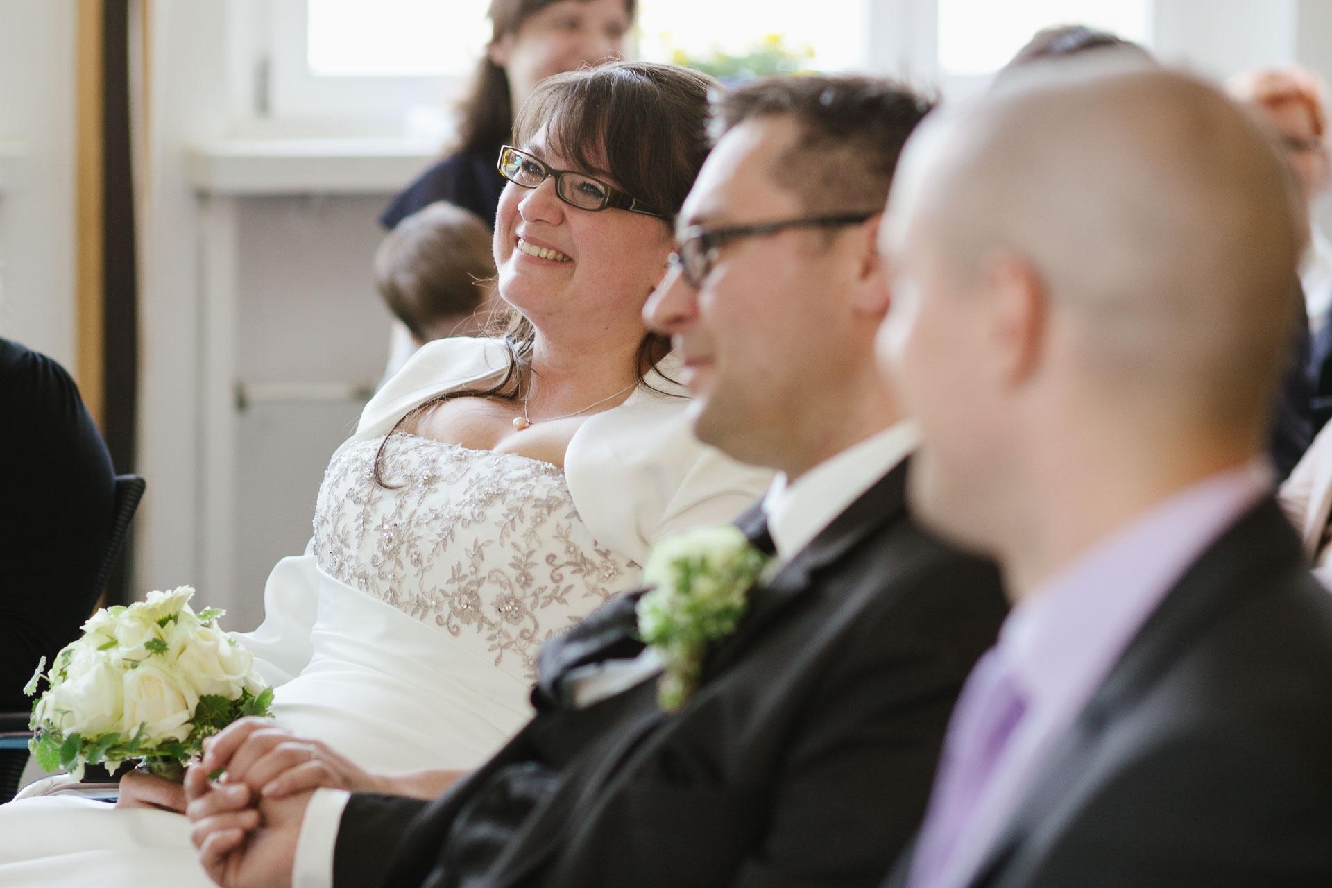 Brautpaar mit Trauzeuge